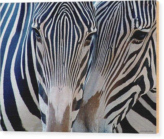 Zebra Pattern Wood Print