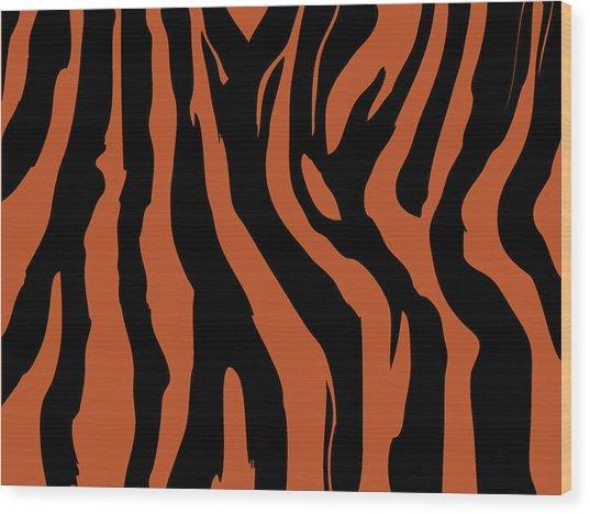Zebra Print 003 Wood Print by Kenneth Feliciano