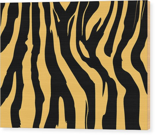 Zebra Print 005 Wood Print by Kenneth Feliciano