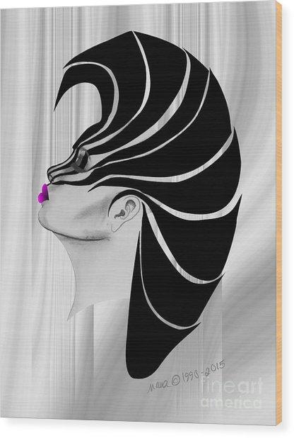 Zebra Punk Wood Print