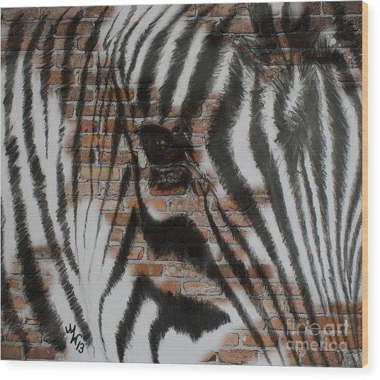 Zebra Wall Wood Print