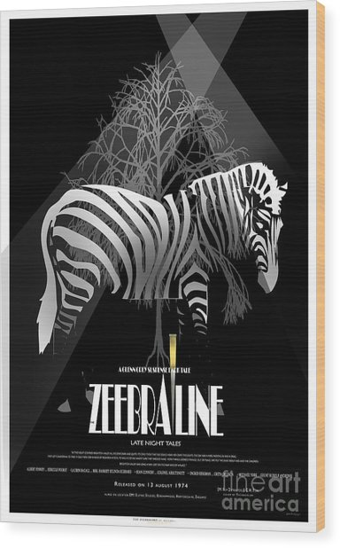 Zebraline Movie Poster Classic A Tribute To Ageth  Wood Print by Weiler WEILER