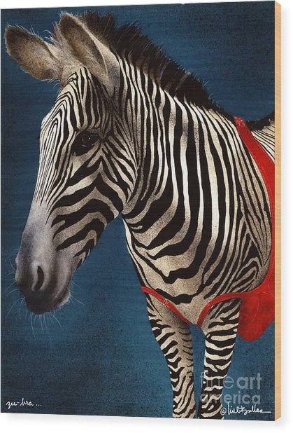 Zeebra Wood Print by Will Bullas