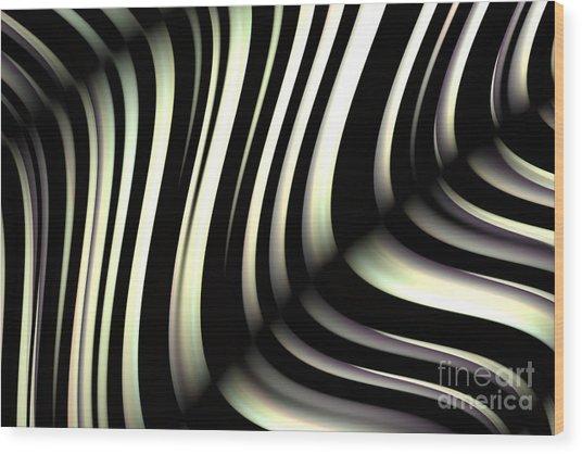Wood Print featuring the digital art Zeebraa by Vix Edwards