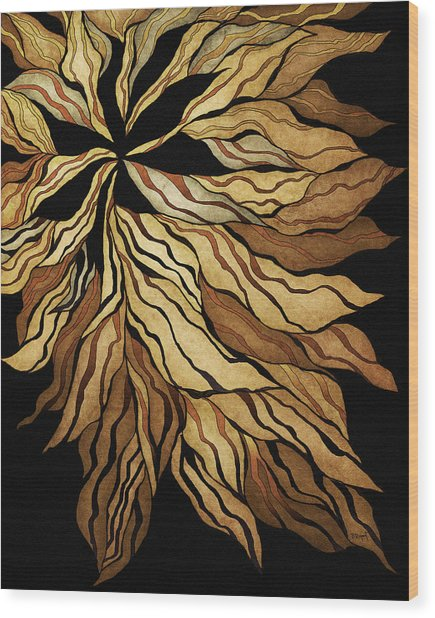 Zen Blossom Wood Print