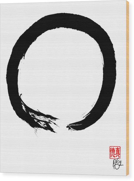 Zen Circle Four Wood Print