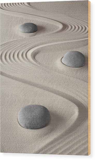 Zen Garden Wood Print by Dirk Ercken