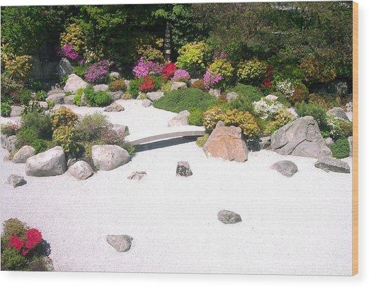 Zen Garden Wood Print by Pamela Schreckengost
