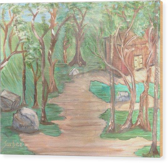 Zen House Wood Print