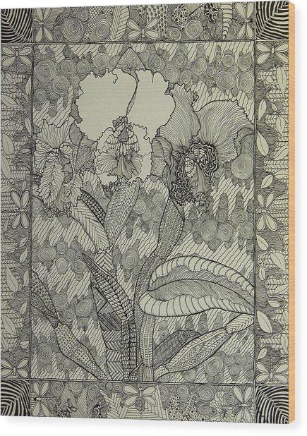 Zen Orchids Wood Print