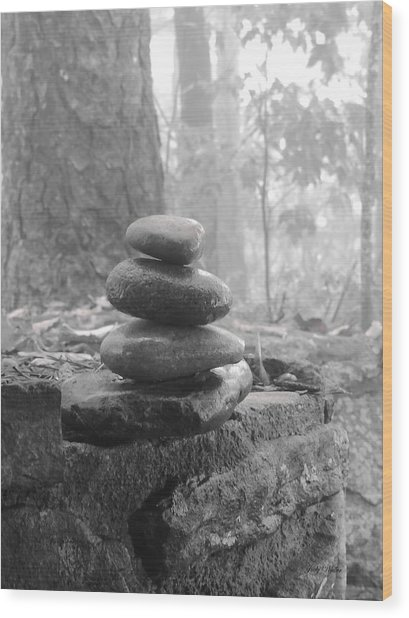 Zen Rocks Wood Print