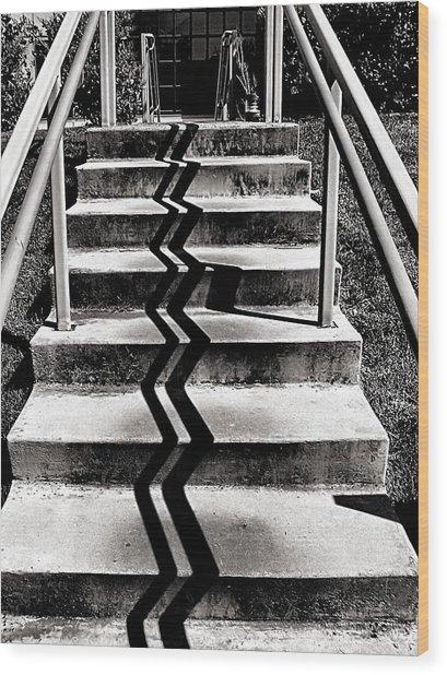 Zig Zag Wood Print