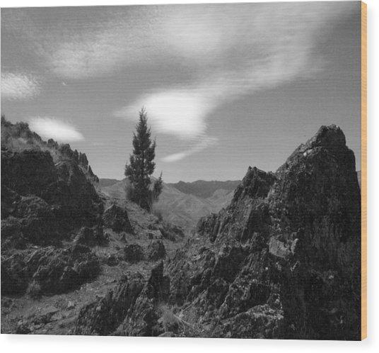Zig Zag Sky Wood Print
