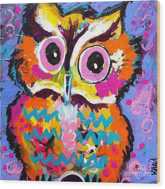 Ziggy The Great Horned Owl Wood Print