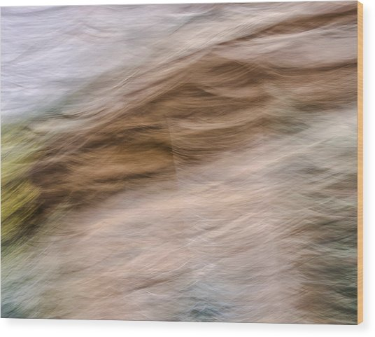 Zion Fall Abstract Wood Print