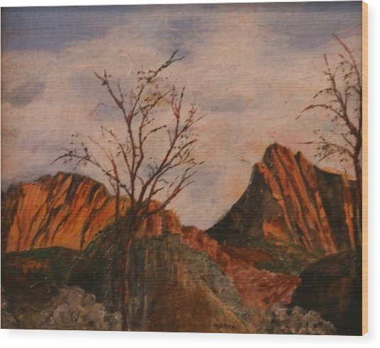 Zion Gate Wood Print