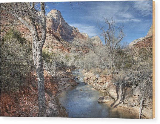 Zion National Park Wood Print