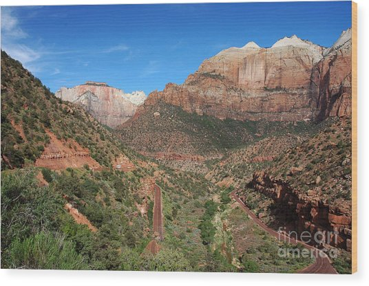 206p Zion National Park Wood Print