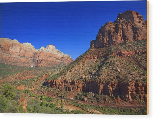 Zion National Park Utah Usa Wood Print