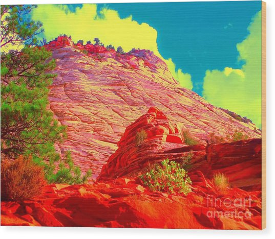 Zion Rising Wood Print
