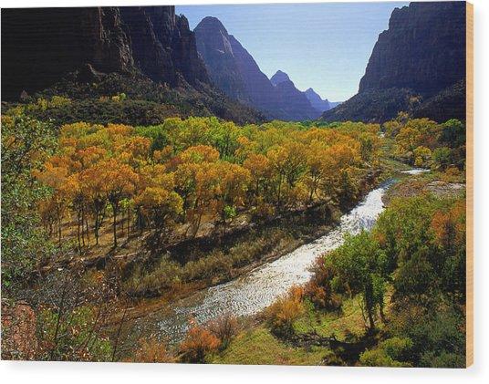 Zion Utah Wood Print