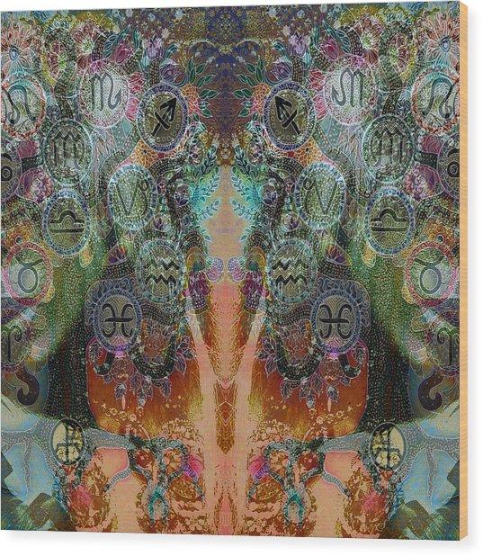 Zodiac Wood Print