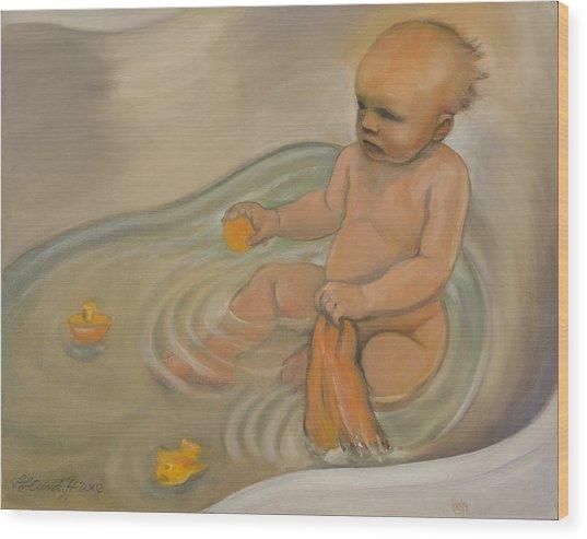 Zoe's Bath Wood Print