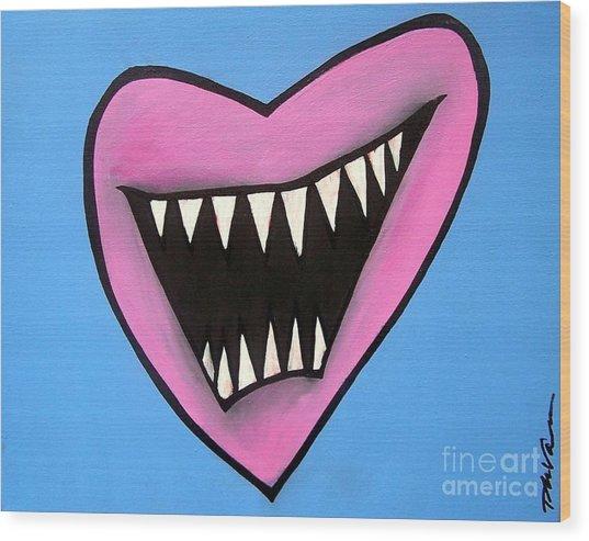 Zombie Heart Wood Print