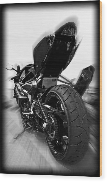Zoomed Gsxr Wood Print