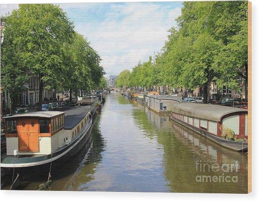 Amsterdam Wood Print by Sophie Vigneault