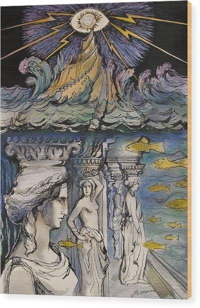 Atlantida Wood Print