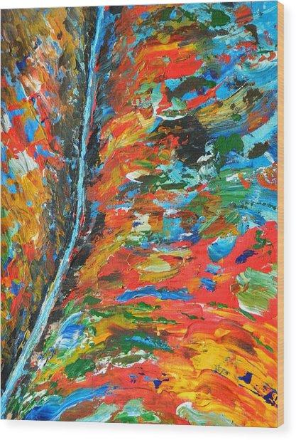 Canyon River Wood Print by Everette McMahan jr