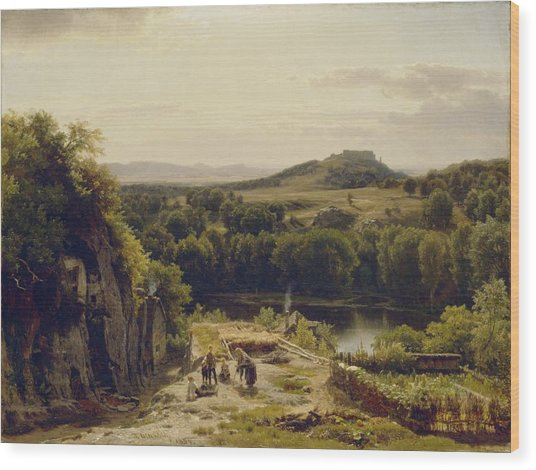 Landscape In The Harz Mountains Wood Print