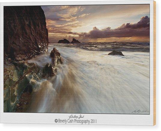 Llanddwyn Island Beach Wood Print