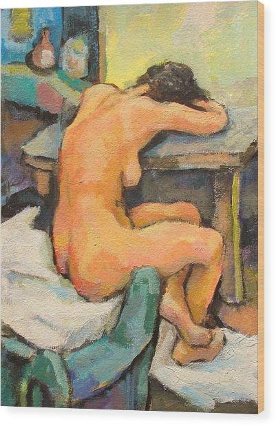 Nude Painting 2 Wood Print