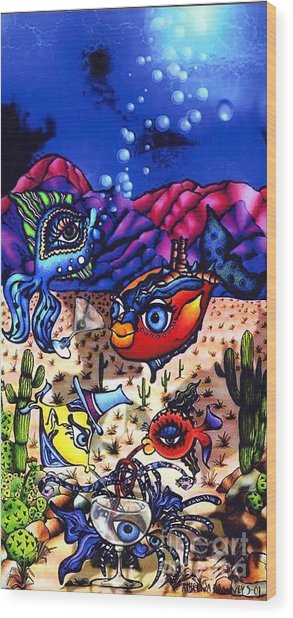 Pacifica In The Desert Wood Print