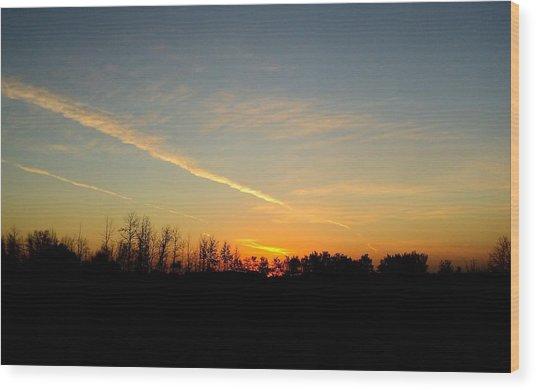 Saskatchewan Sunrise Wood Print by Janice Robertson