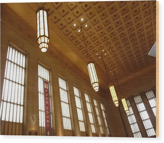 Saved Train Station Wood Print by Paul Washington