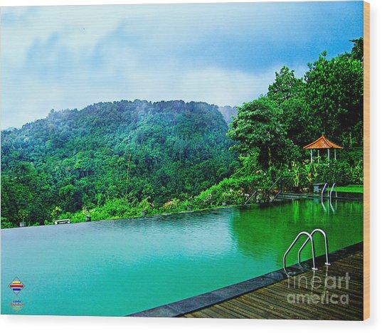 Scenery Of Mount Rinjani Wood Print by Vidka Art