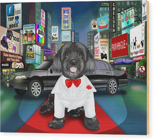Sir Cuba Of Chelsea In Times Square Nyc Wood Print