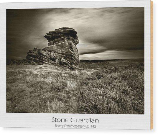 Stone Guardian Wood Print