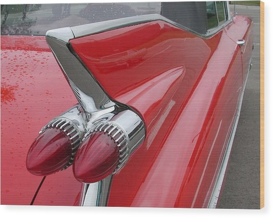 1959 Caddy Fin Wood Print