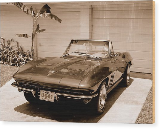 1965 Corvette Sting Ray Wood Print by Kornel J Werner