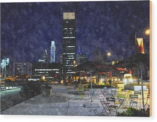 30th Street Station Plaza Wood Print