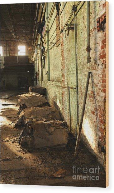 Abandoned Factory Wood Print