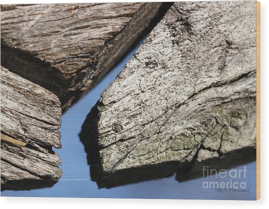 Abstract With Angles Wood Print