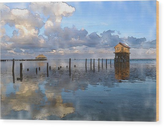 Ambergris Caye Belize Wood Print