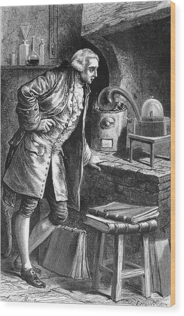 Antoine Lavoisier, French Chemist Wood Print by