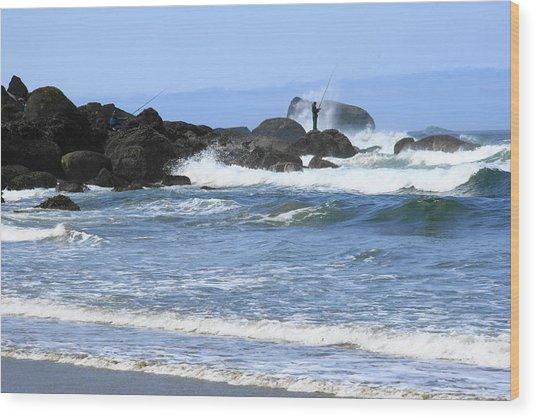 At Falcon Cove Wood Print