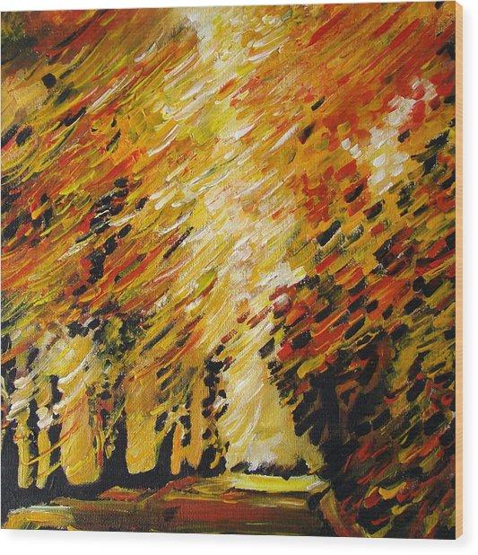 Autumn Wood Print by Alexander Antonyuk